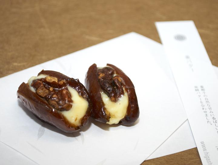 |季節のおくりもの|日本の繊細さを表現した美しい和菓子「HIGASHIYA」の棗バターと板飴