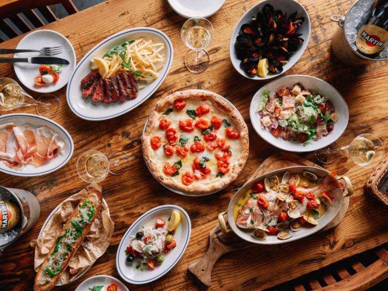 思い思いに小皿を組み合わせれば、パーティのテーブルが華やぐ【サルヴァトーレ クオモ & バール 浅草】