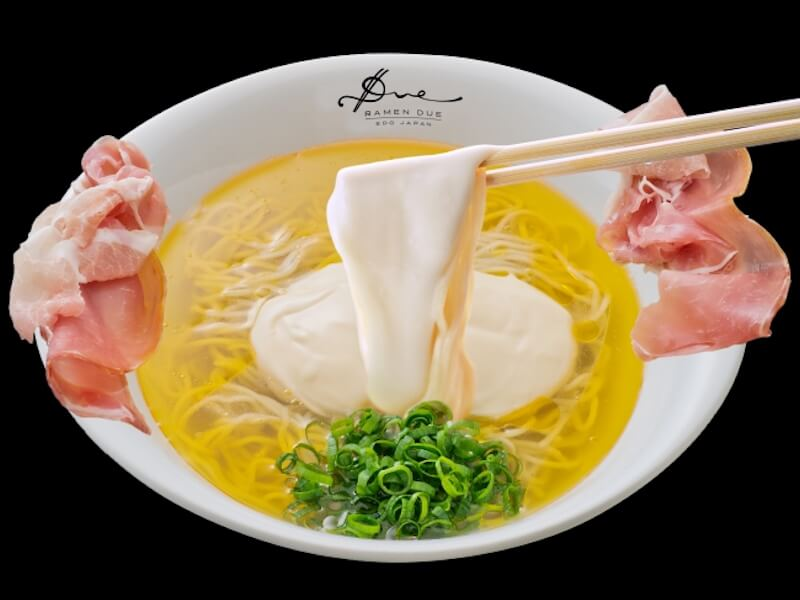 モッツァレラ✕生ハムのイタリアンなラーメン「Ramen ドゥエ Edo Japan 」が日比谷にオープン!