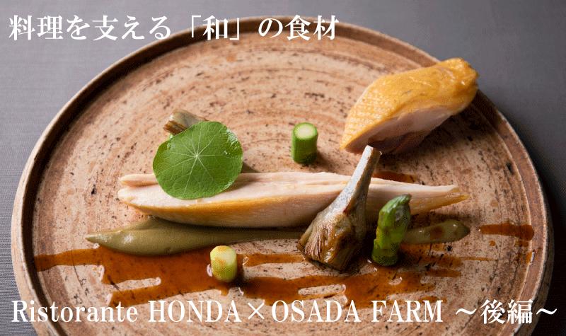 料理を支える「和」の食材|Ristorante HONDA × OSADA FARM ~後編~
